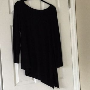 Eileen Fisher long sleeve asymmetrical tunic
